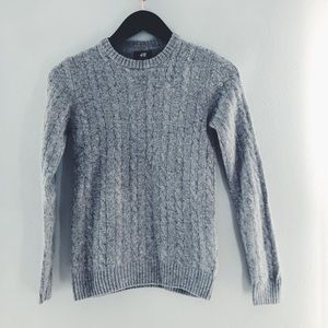 H&M cableknit wool sweater size XS